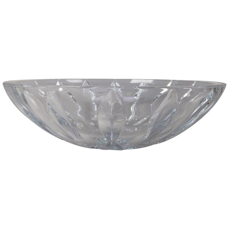 Equinox Clear Crystal Centerpiece Bowl by Reed & Barton, 20th Century For Sale