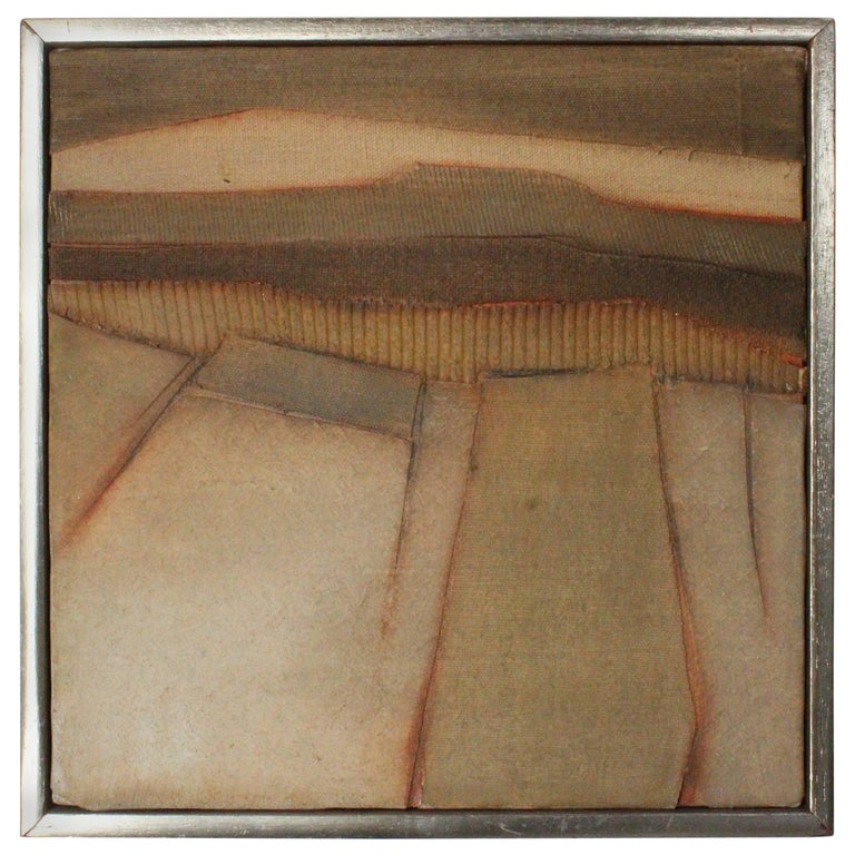 Mixed-Media Abstract Art, Signed Mendoza, 1979 For Sale
