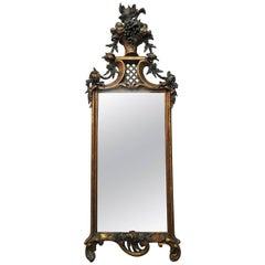 19th Century French Flower Basket Mirror