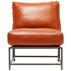 Encounter Cognac Leather and Blackened Steel Chair