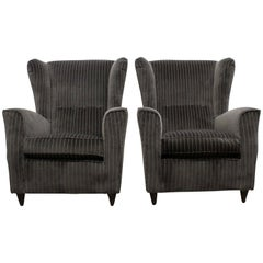 Pair of Armchairs by Paolo Buffa, Italy, 1950s