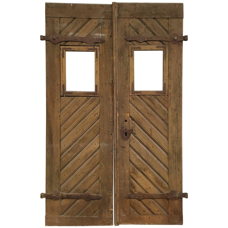 Pair of Antique European Farm Doors For Sale