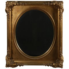 Victorian Floral Carved Giltwood Wall Mirror, 19th Century