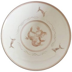 Bing & Grondahl Unique Bowl by Ove Larsen with Mermaid Motif