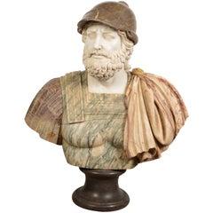 Roman Style Marble Bust, 20th Century