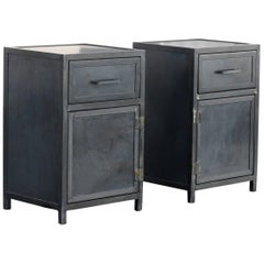Steel Nightstand Cabinets by Rehab Vintage Interiors