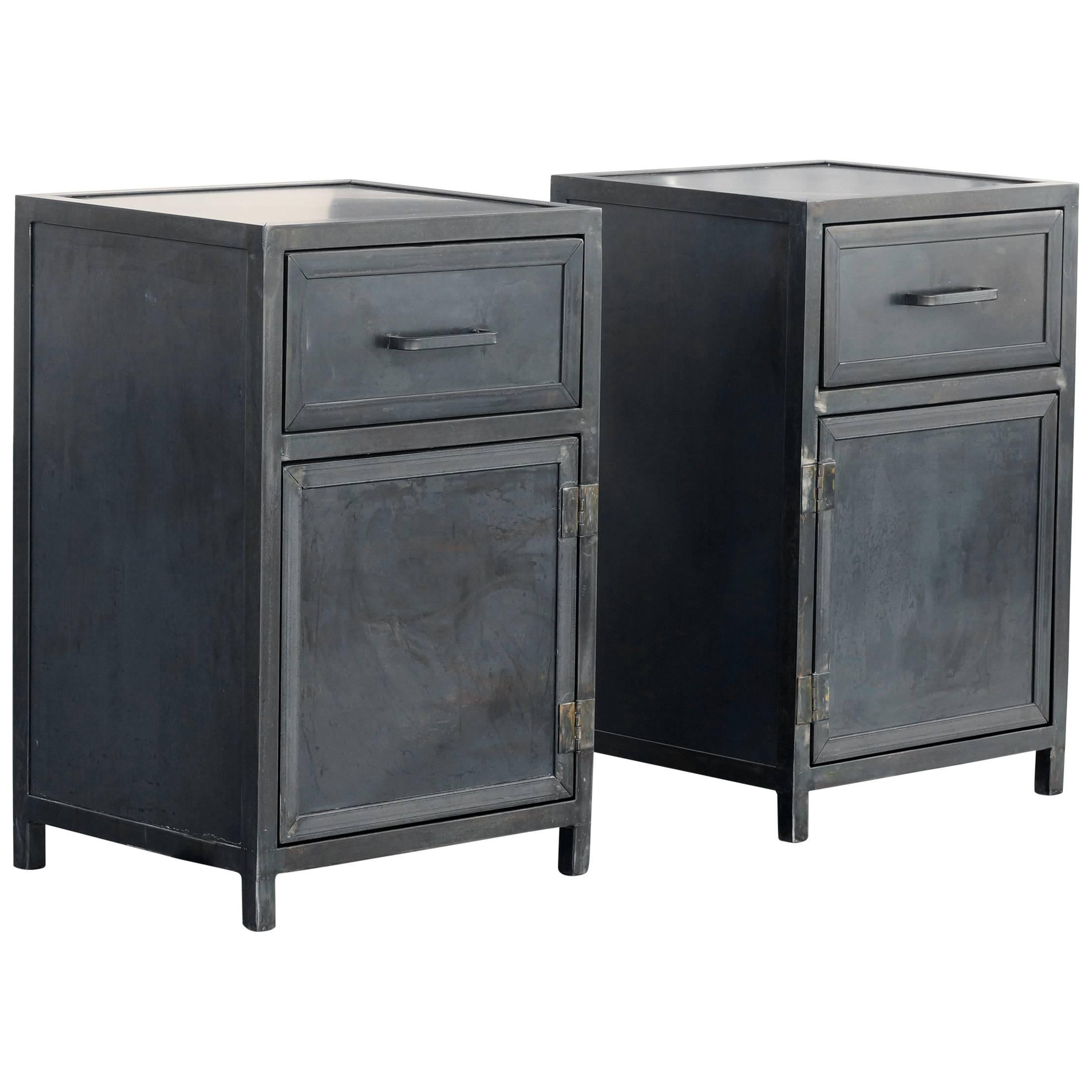 Charmant Steel Nightstand Cabinets By Rehab Vintage Interiors For Sale