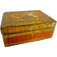 Small Italian Florentine Box with Gilt