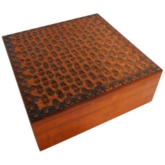 Hand-Carved Wooden Box from Poland