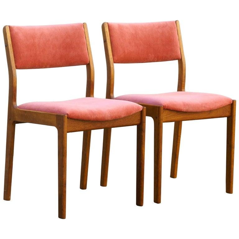 Pair of Danish Modern Teak Dining Chairs