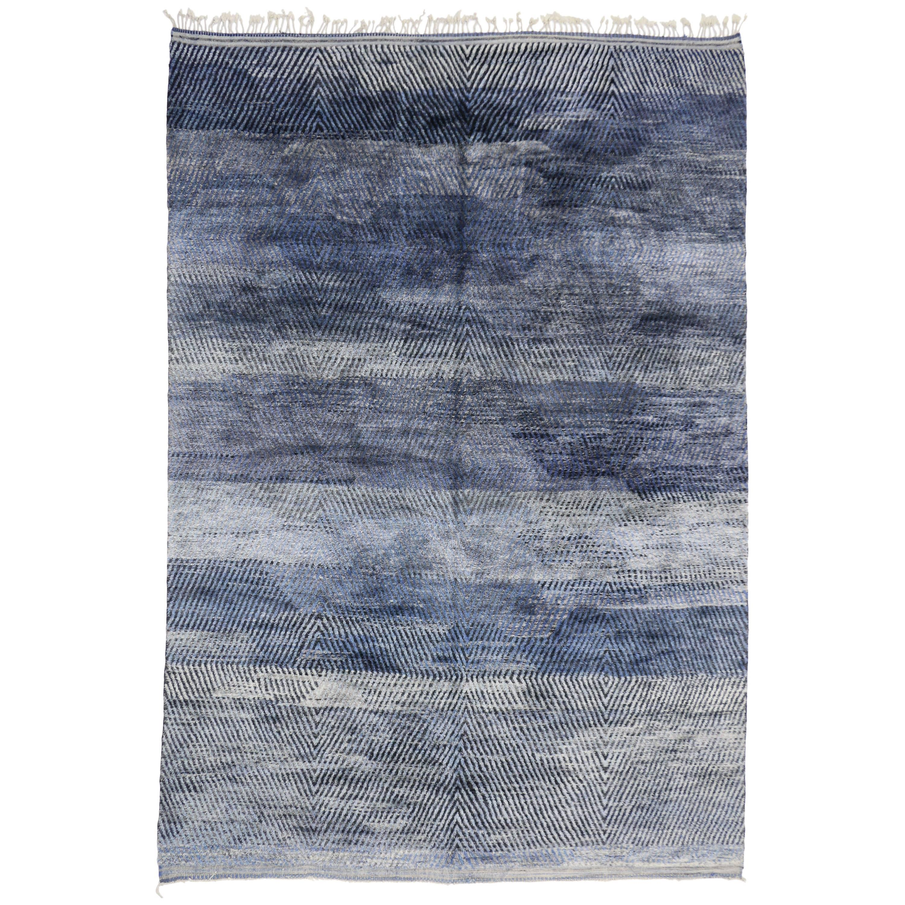 New Contemporary Berber Moroccan Rug with Modern Style