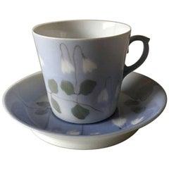 Royal Copenhagen Art Nouveau Mocha Cup and Saucer No. 37/376