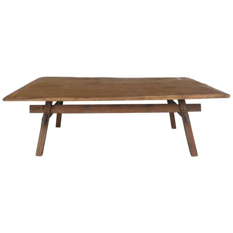 Rustic Coffee Table with Straight Legs