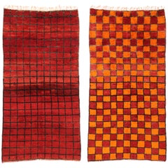 Reversible Berber Moroccan Rug with Modern Style