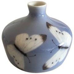Royal Copenhagen Art Nouveau Vase with Three Butterflies #39/393