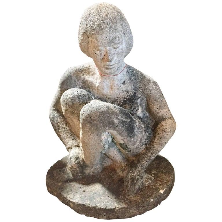 French 1930s Limestone Sculpture