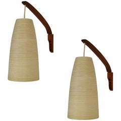 1960s Danish Modern Teak Wall Sconces by Lotte and Gunnar Bostland