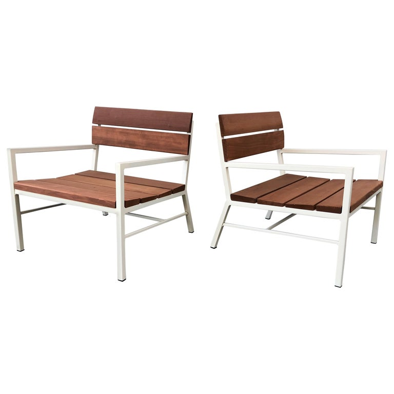Van Keppel and Green Redwood Lounge Chairs, circa 1960s, California 1