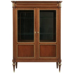 French Louis XVI Style Cabinet with Gilt Mounts