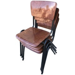 Set of Four Chairs in the Style of Friso Kramer
