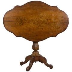 19th Century French Walnut Gueridon or Tilt-Top Table
