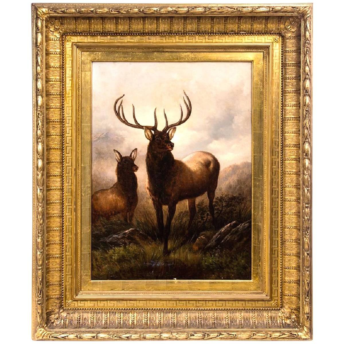 """""""Monarch of the Glen"""" by Henry Collins Bispham"""