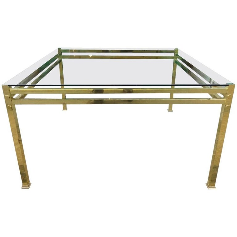 Brass Glass Coffee Table
