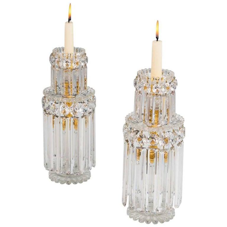 Fine Pair of Large Regency Candlesticks by John Blades