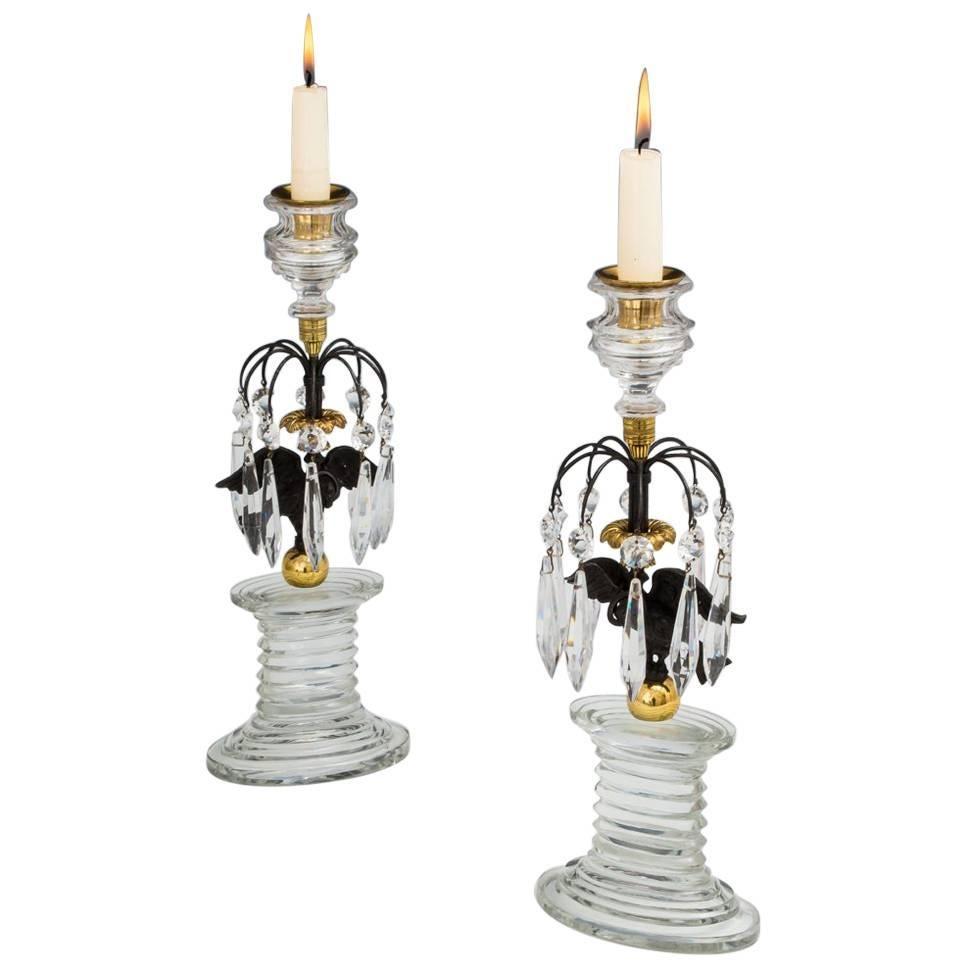 Fine Pair of Regency Eagle Candlesticks