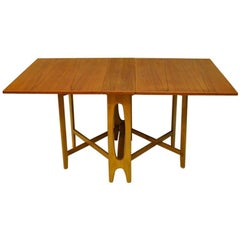 Teak Folding Table Ellipse Nr. 2, Bendt Winge, Norway