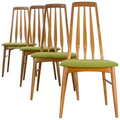 1970s Niels Koefoed 'Eva' Dining Chairs for Koefoed Hornslet Set of Four