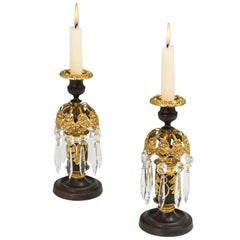Pair of William IV Gilt and Bronze Candlesticks