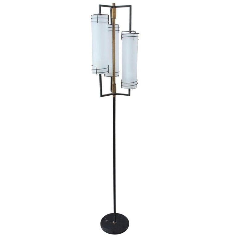 Italian Midcentury Design Floor Lamp Very Cool, Stilnovo Attributed