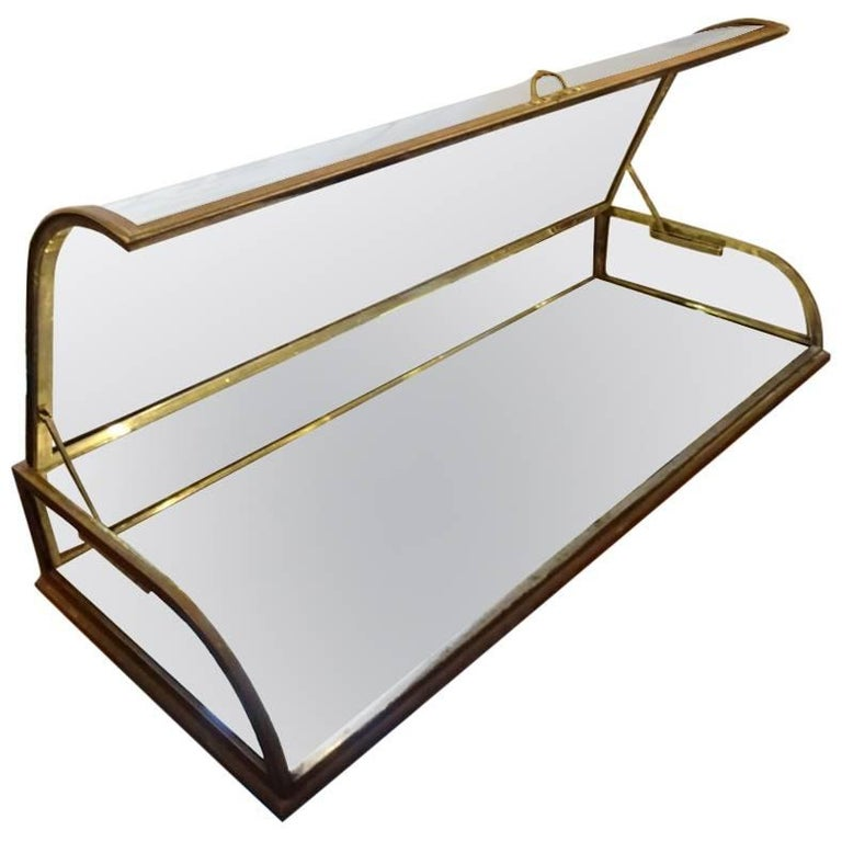 Brass Jewellery Display Case For Sale