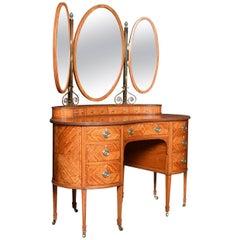 Edwardian Satinwood Dressing Table