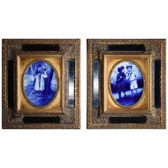 Royal Doulton's Blue Children / Babes in the Woods Porcelain Plaques