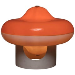 "Rare ""Disco"" Table Lamp by Cesare Casati for Guzzini"