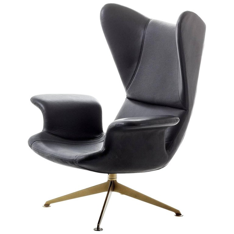 """""""Longwave"""" Embroidered High Back Swivel Armchair by Moroso for Diesel"""