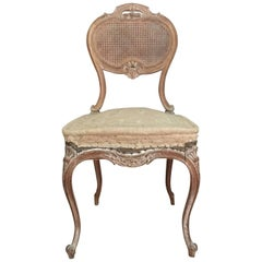 Louis XV Style Cane Chair Entirely Restored in the Traditional Way, 1900s