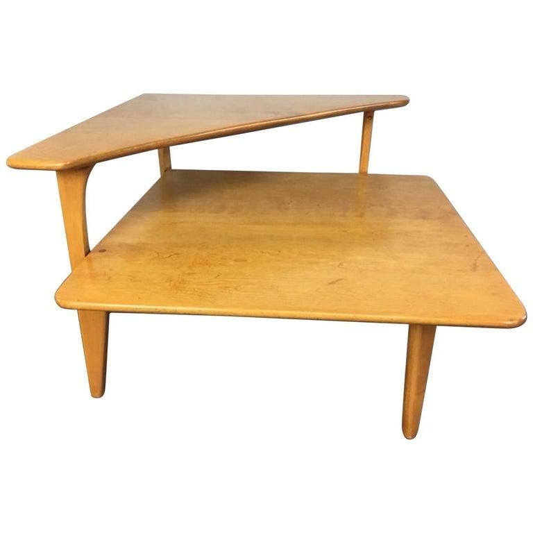 Heywood-Wakefield Corner Step Table