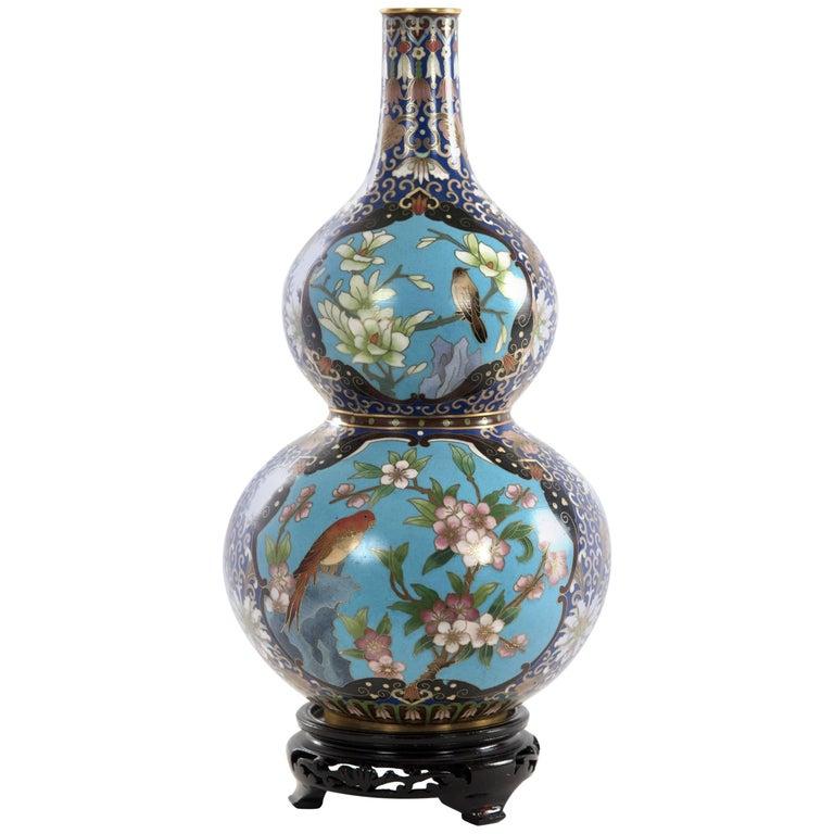 Chinese Cloisonné Enamel Double Gourd Vase