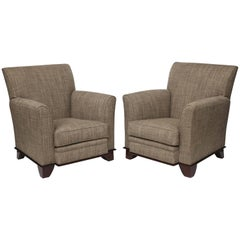 In the Manner of Dominique, Pair of Art Deco Armchairs, France, C. 1930