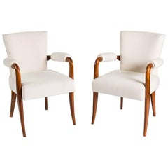 Dominique, André Domin & Marcel Genevrière, Pair of Armchairs, France, C. 1938