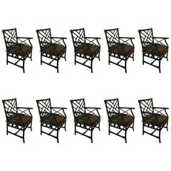 Set of Ten Bamboo Chairs