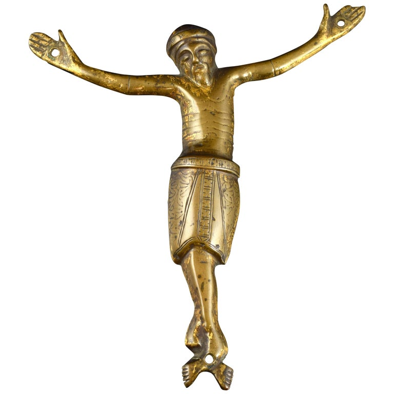 Crucified Christ, Copper, Limoges, France, 13th Century