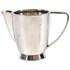 Gio Ponti Milk Jug in Silver Plated Alpacca for Fratelli Calderoni