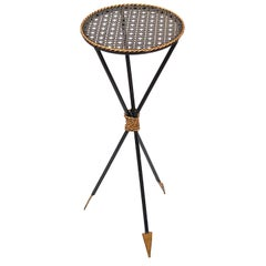 Black and Gold Arrow Side Table, 1950s, France