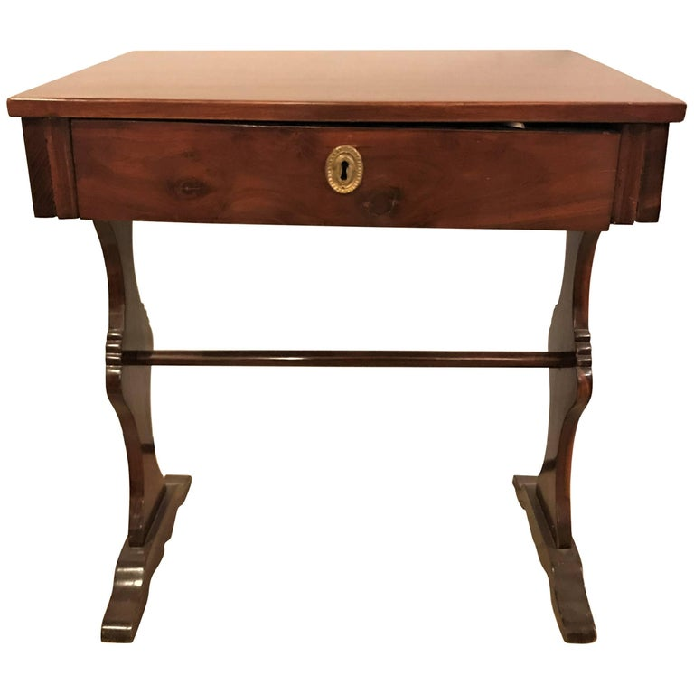 Single Drawer Biedermeier End or Side Table or Writing Desk