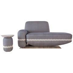 'Megalithes' Sofa & Side Table by Margaux Lally & Luc Berger