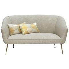1950s Italian Brass Legged Sofa